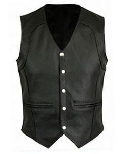 BLACK-LEATHER-MOTORCYCLE-BIKER-VEST-(B11)