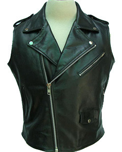 Black-Leather-Brando-Style-Bikers-Vest