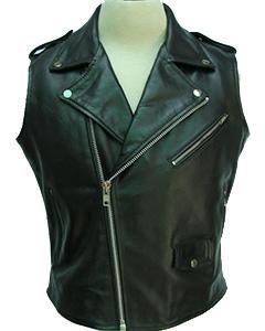 Black-Leather-Brando-Style-Bikers-Vest