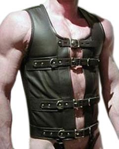 Black-Leather-FULLY-LOCKABLE-Corset-MCOR5