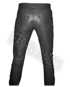 Genuine-Black-Cow-Leather-Sleek-Sexy-Style-Jeans-01