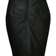 Ladies-Genuine-Soft-Sheep-Nappa-Leather-black-Pencil-Skirt-1