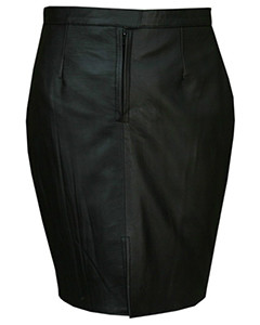 Ladies-Genuine-Soft-Sheep-Nappa-Leather-black-Pencil-Skirt-1