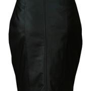 Ladies-Genuine-Soft-Sheep-Nappa-Leather-black-Pencil-Skirt-2