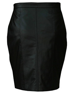 Ladies-Genuine-Soft-Sheep-Nappa-Leather-black-Pencil-Skirt-2