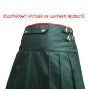 Leather-Wrap-Style-Pleated-Kilt-Flat-Front-&-Rear-Pocket-(K9)-4 (3)