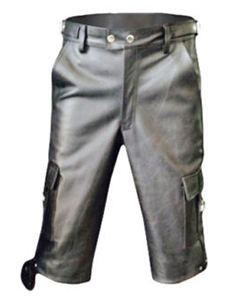 MENS-GENUINE-LEATHER-COMBAT-CARGO-SHORTS-Lederhosen-CARGO1