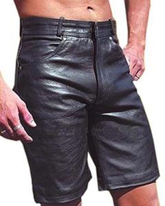 MENS-GENUINE-LEATHER-LONG-LEG-BERMUDA-SHORTS-Lederhosen-NEW-From-45