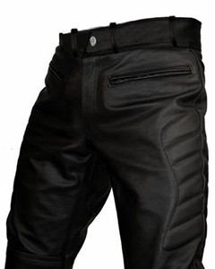 MENS-SEXY-REAL-BLACK-LEATHER-MOTORCYCLE-BIKERS-PANTS-JEANS-TROUSERS-J3-02