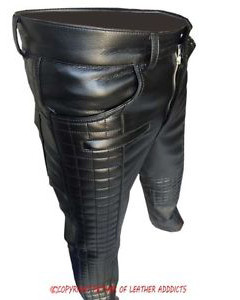MENS-SEXY-REAL-BLACK-LEATHER-QUILTED-MOTORCYCLE-BIKERS-PANTS-JEANS-TROUSER-01
