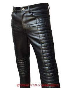 MENS-SEXY-REAL-BLACK-LEATHER-QUILTED-MOTORCYCLE-BIKERS-PANTS-JEANS-TROUSER-03