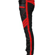 MENS-SEXY-REAL-BLACK-RED-LEATHER-MOTORCYCLE-BIKERS-PANTS-JEANS-TROUSER-J5RED-02