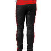 MENS-SEXY-REAL-BLACK-RED-LEATHER-MOTORCYCLE-BIKERS-PANTS-JEANS-TROUSER-J5RED-03