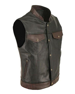 Mens-100-Pure-Cow-Leather-Waistcoat-Bikers-Vest-BR4-From-47-00