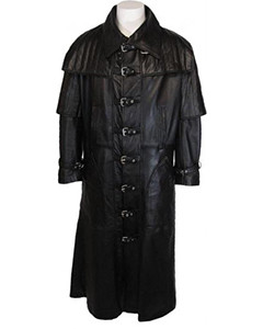 Mens-Black-VAN-HELSING-DUSTER-Full-Length-Nappa-SHEEP-Leather-Coat-T15