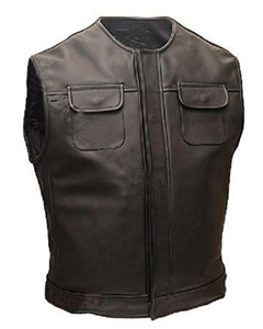 Mens-Classic-Pure-Leather-Waiscoat-Bikers-Vest-With-Flap-Pockets-BLUF-B3