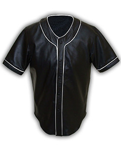 Mens-MLB-Real-Soft-Sheep-NAPPA-Leather-Base-Ball-Jersey-Shirt