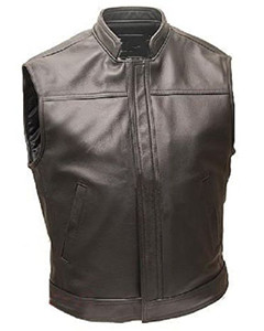 Mens-Pure-Cow-Leather-Waistcoat-Bikers-Vest-B1-From-44-BARGAIN