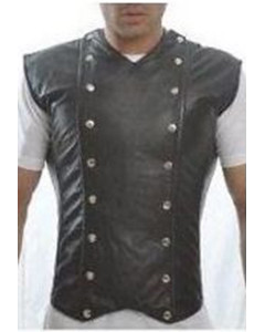 Mens-Pure-Nappa-Lambs-LEATHER-Steel-Boned-Victorian-Corset-LARP-Steampunk-Goth