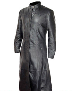 Mens-Real-BLACK-Leather-Goth-Matrix-Trench-Coat-Steampunk-Gothic-Van-Helsing-T3