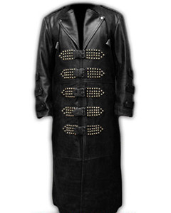Mens-Real-Black-Leather-Goth-Matrix-Trench-Coat-Steampunk-Gothic-Van-Helsing-T8