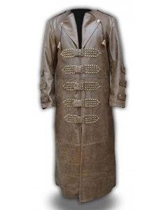 Mens-Real-Brown-Leather-Goth-Matrix-Trench-Coat-Steampunk-Gothic-Van-Helsing-T8