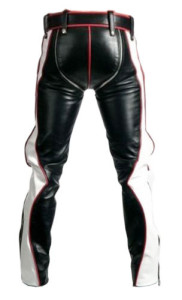 NEW-SEXY-REAL-BLACK-RED-WHITE-LEATHER-HEAVY-DUTY-BONDAGE-PANTS-JEANS-BLUF-GAY-02