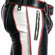 NEW-SEXY-REAL-BLACK-RED-WHITE-LEATHER-HEAVY-DUTY-BONDAGE-PANTS-JEANS-BLUF-GAY-05