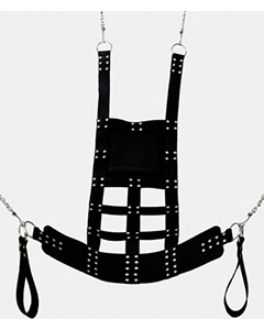 Real-Leather-Heavy-Adult-Sex-Sling-Swing-with-Stirrups-Mountable-Suspendable