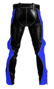 SEXY-REAL-BLACK-BLUE-LEATHER-HEAVY-DUTY-BONDAGE-PANTS-JEANS-BLUF-GAY-04