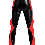 SEXY-REAL-BLACK-RED-LEATHER-HEAVY-DUTY-BONDAGE-PANTS-JEANS-BLUF-GAY-R2-RED-BLK-01