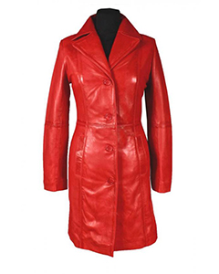 Sexy-Ladies-Real-RED-Nappa-Sheep-Leather-Steampunk-Goth-Style-Trench-Coat-T16R