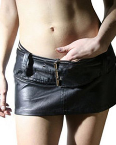 Very-Sexy-Pure-Silky-Soft-Lambs-Nappa-Leather-Womens-Mini-Skirt