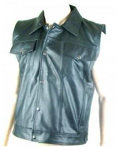 Very-Sexy-Pure-Soft-Supple-Leather-Shirt-Capped-Sleeve-T-Shirt-Tee-NEW