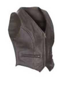Very-Sexy-Womens-Ladies-Pure-Leather-Waistcoat-Vest-With-Zipped-Front-W1