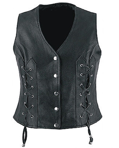Leather Ladies Waistcoat