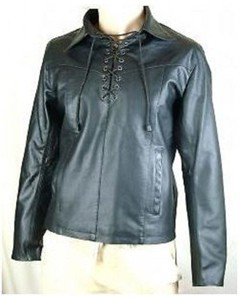 Mens Leather Shirts