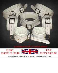 100-Top-Grain-Leather-Full-Set-of-7-X-Bondage-Restraints-280942905751-1