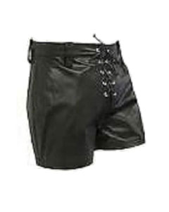 Black-LEATHER-FRONT-LACED-SHORTS-SHORTS2