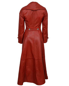 Ladies-Real-Red-Nappa-Sheep-Lambs-Leather-Steampunk-Goth-Style-Trench-Coat-T11-2
