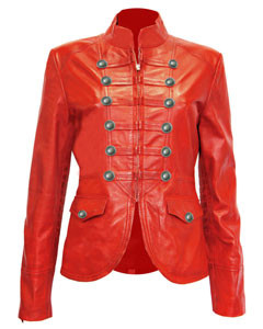 Ladies-Red-Pure-Soft-Sheep-NAPPA-Leather-Military-Syle-Steampunk-Jacket-MJ1-2