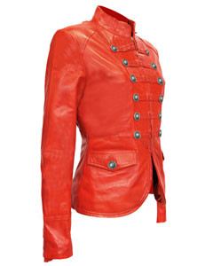 Ladies-Red-Pure-Soft-Sheep-NAPPA-Leather-Military-Syle-Steampunk-Jacket-MJ1-3