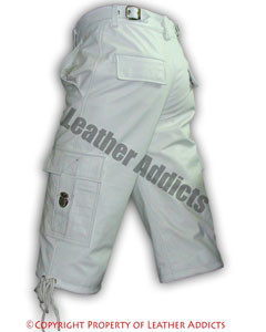 MENS-GENUINE-WHITE-LEATHER-COMBAT-CARGO-SHORTS-Lederhosen-CARGO1-3