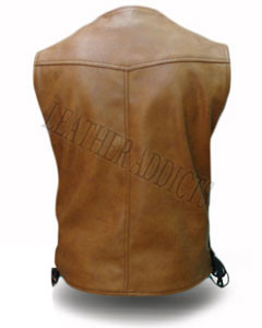 MENS-REAL-COW-LEATHER-ALL-BROWN-MOTORCYCLE-BIKER-STYLE-VEST-WAISTCOAT-B2-BRW-2