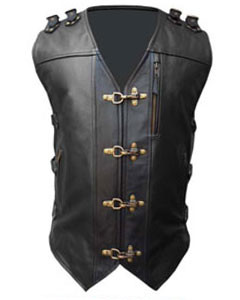 MENS-REAL-COW-LEATHER-BLACK-HEAVY-DUTY-MOTORCYCLE-BIKER-STYLE-VEST-WAISTCOAT-B24-2