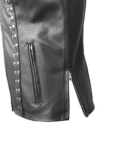 MENS-REAL-COW-LEATHER-BLACK-MOTORCYCLE-BIKER-STYLE-VEST-WAISTCOAT-002
