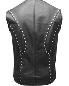 MENS-REAL-COW-LEATHER-BLACK-MOTORCYCLE-BIKER-STYLE-VEST-WAISTCOAT-003