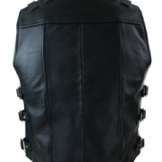 MENS-REAL-COW-LEATHER-BLACK-MOTORCYCLE-BIKER-STYLE-VEST-WAISTCOAT-B23-1