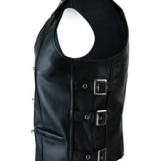 MENS-REAL-COW-LEATHER-BLACK-MOTORCYCLE-BIKER-STYLE-VEST-WAISTCOAT-B23-2