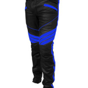 MENS-SEXY-REAL-BLACK-BLUE-LEATHER-MOTORCYCLE-BIKERS-PANTS-JEANS-TROUSER-J5BLU-2
